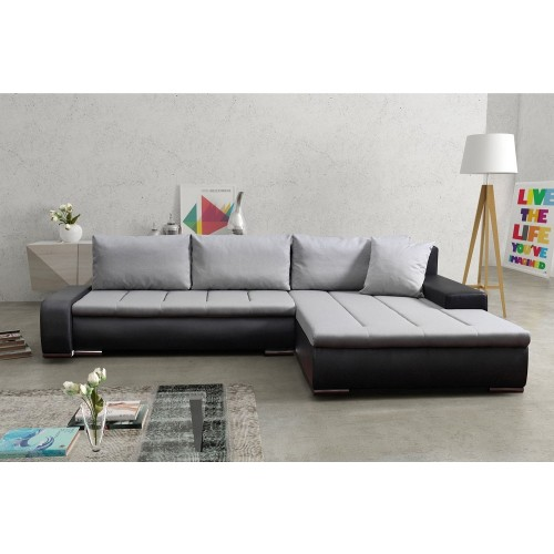 eckcouch wohnlandschaft mit stauraum und bettfunktion. Black Bedroom Furniture Sets. Home Design Ideas