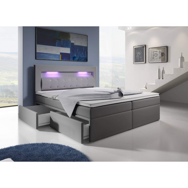 boxspringbett mallorca boxspringbett mit leds mit 2 schubladen betten. Black Bedroom Furniture Sets. Home Design Ideas