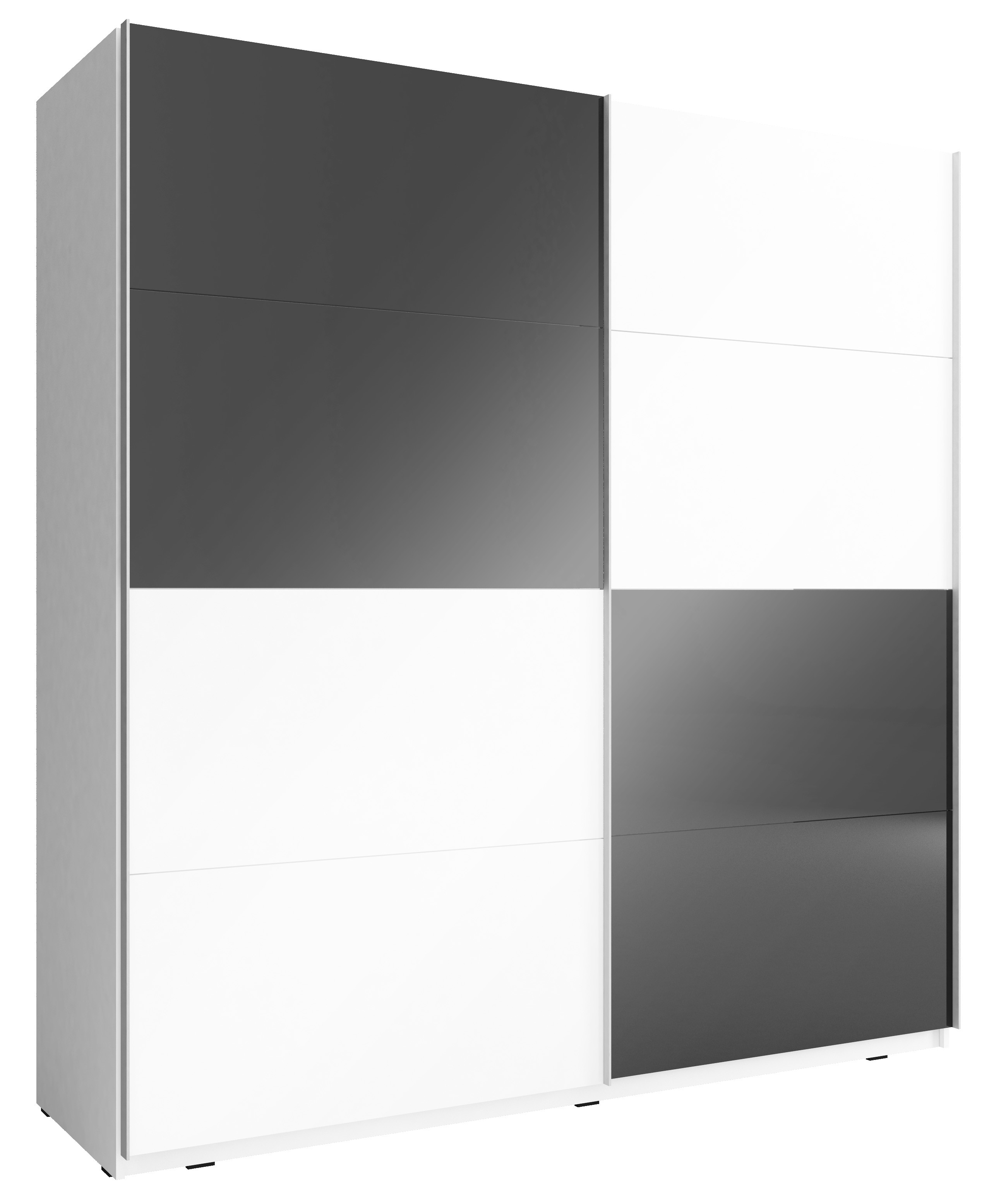 schwebet renschrank inkl innen ausstattung in weiss schwarz hochglanz. Black Bedroom Furniture Sets. Home Design Ideas