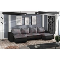 U-Form Ecksofa Couch Boston-U